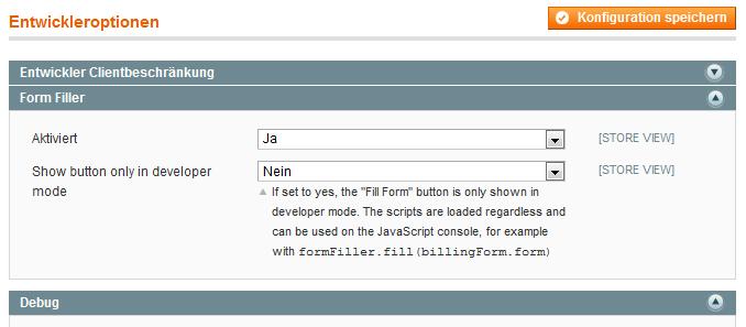 SSE_FormFiller Configuration
