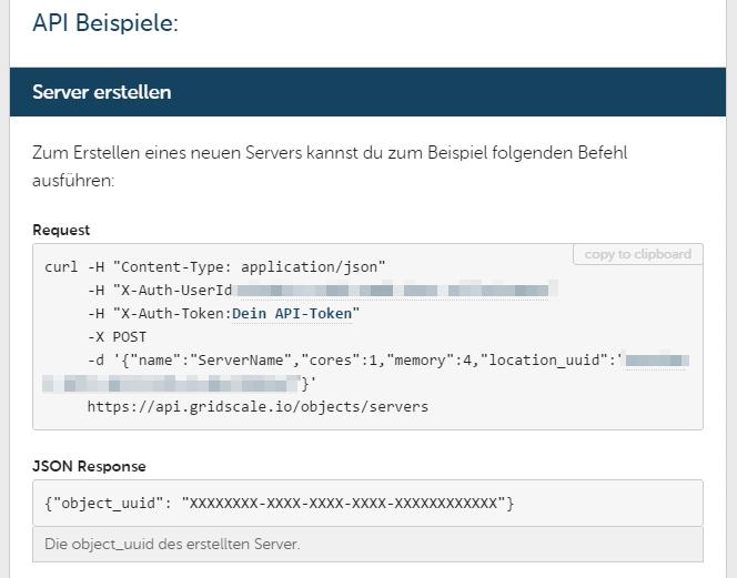 Gridscale API